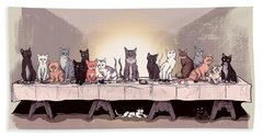 The Cat Supper Hand Towel