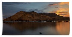 The Closed Cove In Aguilas At Sunset, Murcia Bath Towel
