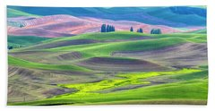 The Color Palette Of The Palouse Hand Towel