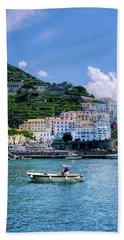 The Colorful Amalfi Coast  Hand Towel