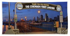 The Coronado Ferry Landing Hand Towel