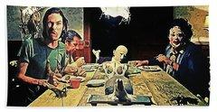 The Dinner Scene - Texas Chainsaw Bath Towel