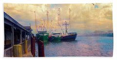 The Docks At Cape May Hand Towel