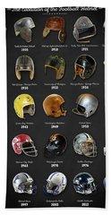 The Evolution Of The Football Helmet Bath Towel
