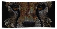 Bath Towel featuring the digital art The Face Of A Cheetah by ISAW Company