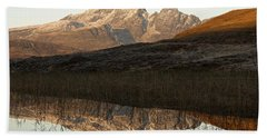 Bath Towel featuring the photograph The First Hint Of Winter At Loch Cill Chriosd by Stephen Taylor