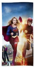 The Flash E Supergirl Hand Towel