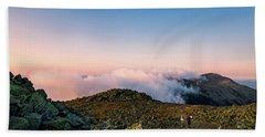 The Hiker - Mt Jefferson, Nh Hand Towel