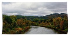 Bath Towel featuring the photograph The Housatonic River From A Bridge In Adams Ma by Raymond Salani III