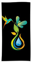 The Kissing Flower And The Butterfly On Flower Bud Hand Towel