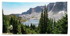 The Lakes Of Medicine Bow Peak Hand Towel
