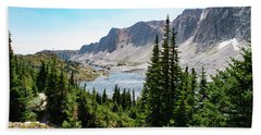 The Lakes Of Medicine Bow Peak Hand Towel