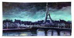 The Lights Of Paris Hand Towel