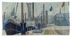 The Maria At Honfleur, 1886 Hand Towel