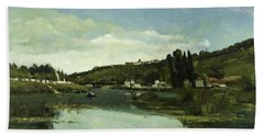 The Marne At Chennevieres, 1865 Bath Towel