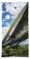 The Millennium Bridge From Below Hand Towel