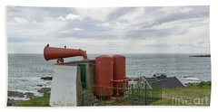 The Old Gas Powered Fog Warning System At Torrey Near To Aberdeen Harbour. Bath Towel