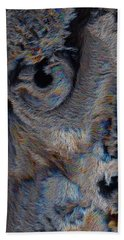 The Old Owl That Watches Hand Towel