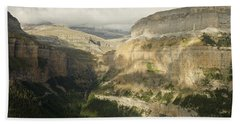 Bath Towel featuring the photograph The Ordesa Valley by Stephen Taylor