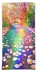 The Path Where Rainbows Meet Hand Towel