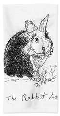 The Rabbit Lady Drawing Hand Towel
