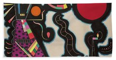 The Red Circle - Der Rote Kreis Hand Towel