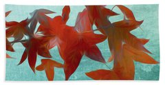 The Red Leaves Bath Towel
