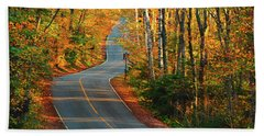 Bath Towel featuring the photograph The Road Up Mount Greylock by Raymond Salani III