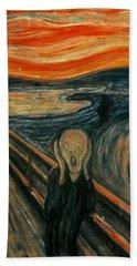 The Scream  Hand Towel