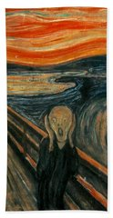 The Scream  Hand Towel