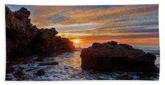 The Sea In Oropesa At Sunrise On The Orange Blossom Coast Bath Towel
