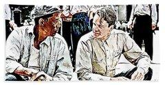 The Shawshank Redemption Tim Robbins And Morgan Freeman  Bath Towel