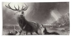 The Stag At Bay Bath Towel