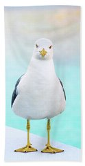The Stare Of The Seagull Bath Towel