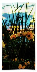The Sunflower's Sunset Bath Towel