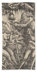 The Three Fates  Lachesis, Atropos And Klotho, 1513 Hand Towel