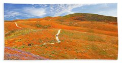 The Trail Through The Poppies Bath Towel