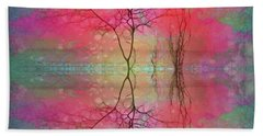 The Tree Dreams Itself With Wings Over Still Waters Hand Towel