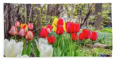 The Tulips Are Out. Hand Towel