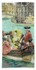 The Visit Of The Frigate, Detail Bath Towel