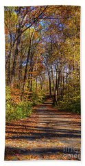 The Yellow Road Hand Towel