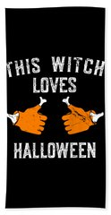 This Witch Loves Halloween Bath Towel