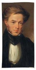 Portrait Of Thomas Ustick Walter, 1835 Bath Towel