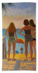Three Beach Girls Hand Towel