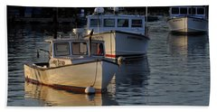 Three Boats In Maine Hand Towel