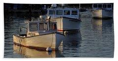Three Boats In Maine Bath Towel