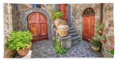Three Doors Of Tuscany Hand Towel