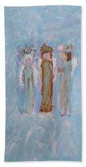 Three Friendly Angels Hand Towel
