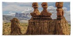 Three Sisters Hoodoos Goblin Valley State Park Bath Towel