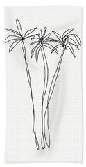 Three Tall Palm Trees- Art By Linda Woods Bath Towel